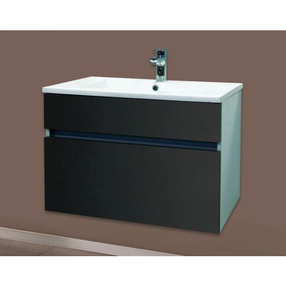 STELLA 75 függesztett mosdóhely, antracit, kerámiamosdóval