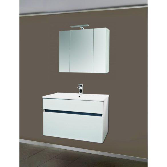 STELLA 75 függesztett mosdóhely, fehér, kerámiamosdóval