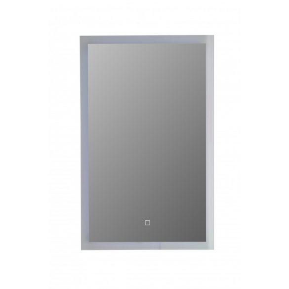 Tükör indirekt LED-es megvilágítással, érintőkapcsolóval, 50×80 cm