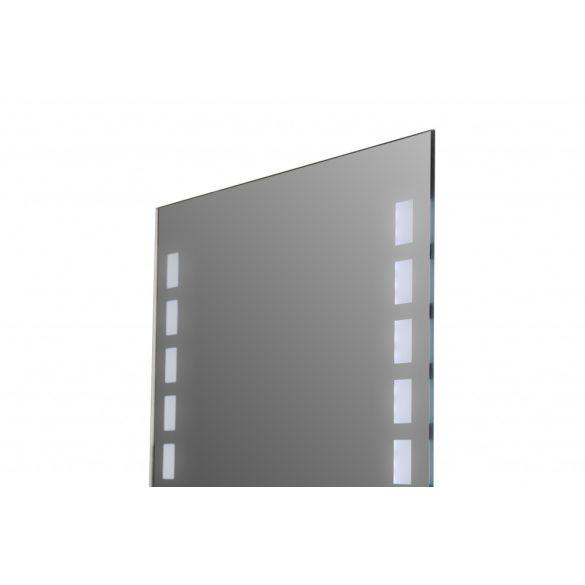 Tükör indirekt LED-es megvilágítással, érintőkapcsolóval, 80×60 cm