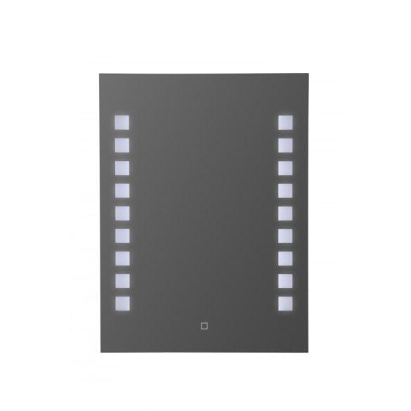 Tükör indirekt LED-es megvilágítással, érintőkapcsolóval, 60 × 80 cm