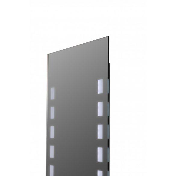 Tükör indirekt LED-es megvilágítással, érintőkapcsolóval, 60×80 cm