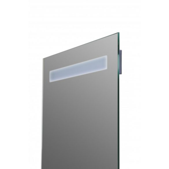 Tükör indirekt LED-es megvilágítással, érintőkapcsolóval, üvegpolccal, 60×80 cm