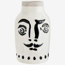 CRAQUELÉ váza arc motívummal