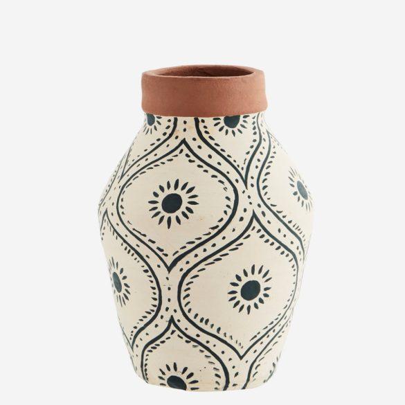Váza, kerámia, kézzel festett