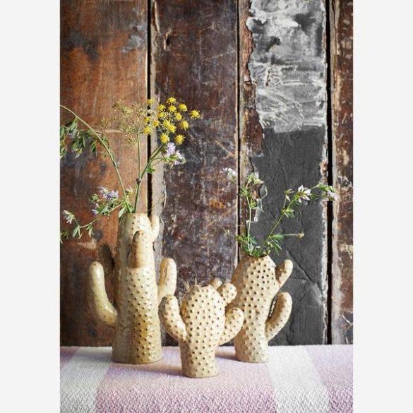 CACTUS váza, kerámia, zöld, kicsi