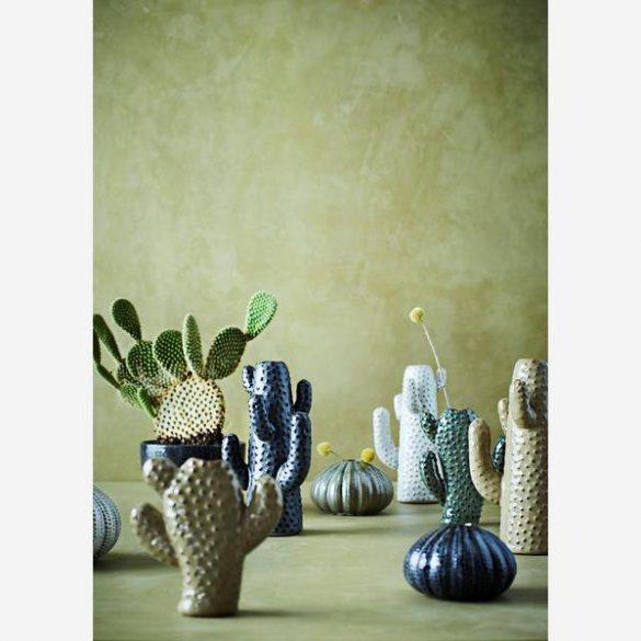 CACTUS váza, kerámia, zöld, közepes