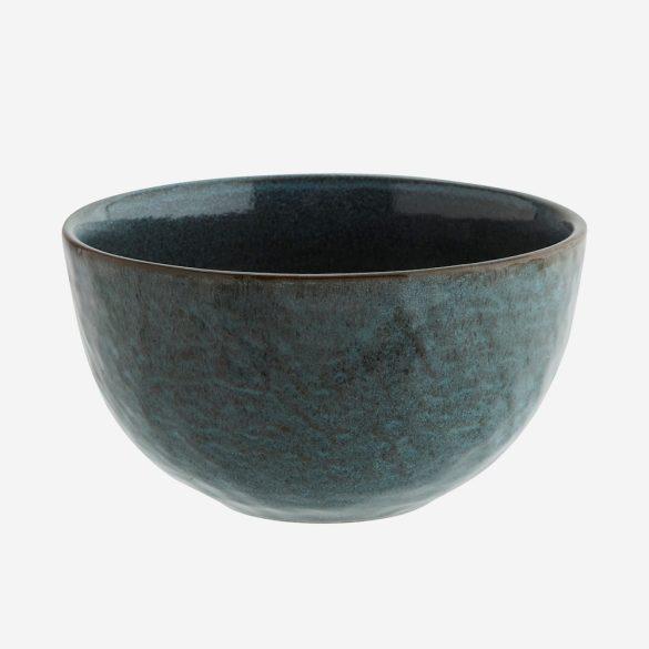Kőedény tál, kék-barna