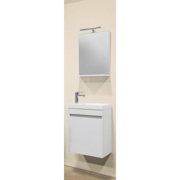 NORA 48 alsóbútor szett, függesztett, fehér, öntött márvány mosdóval