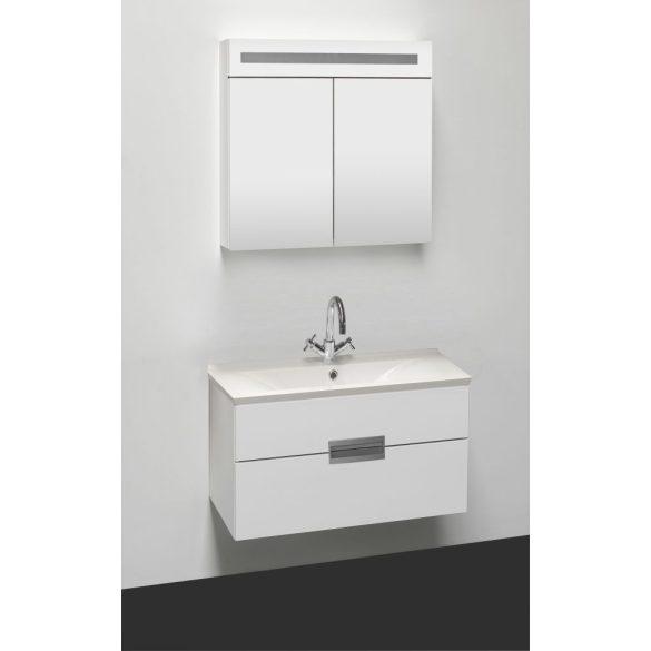 RAVE 70 függesztett mosdóhely, fehér,  öntött márvány mosdóval