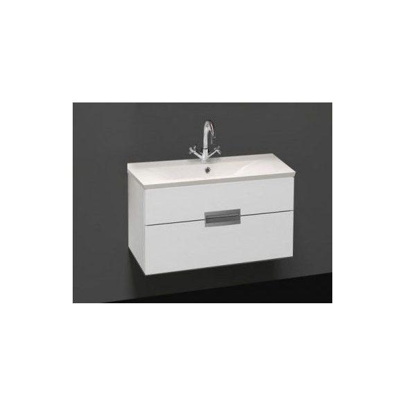 RAVE 90 függesztett mosdóhely, fehér, öntött márvány mosdóval