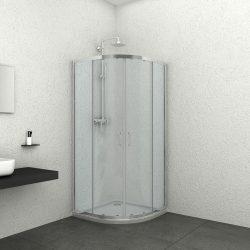 ELITE íves sarok zuhanykabin két tolóajtóval