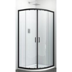 ELITE BLACK íves sarok zuhanykabin két tolóajtóval