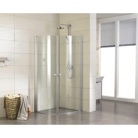 ELEGANCE íves sarok zuhanykabin két lengőajtóval