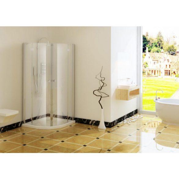 SMARTFLEX íves sarok zuhanykabin két nyílóajtóval
