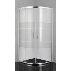 PRO-LINE íves sarok zuhanykabin két tolóajtóval