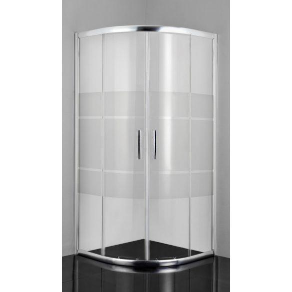 PRO-LINE íves sarok zuhanykabin két tolóajtóval (5 mm)