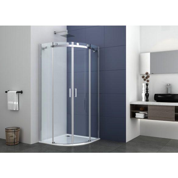 ELEGANCE íves sarok zuhanykabin két tolóajtóval