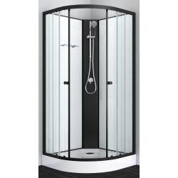 BALATON 2 komplett zuhanykabin, fekete