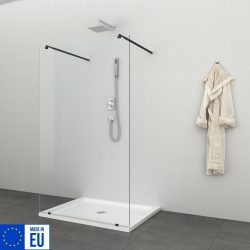 FREEDOM I BLACK zuhanyfal, 100 cm