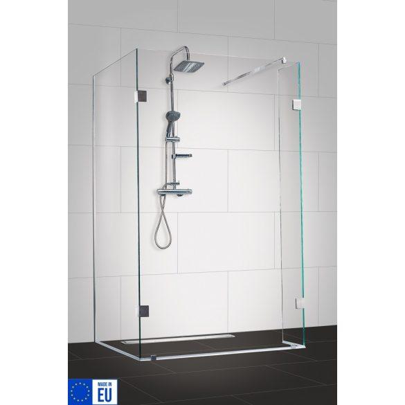 WIDE I háromrészes zuhanyfal, 110×90 cm
