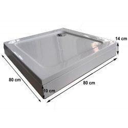 BORA 80 szögletes zuhanytálca levehető előlappal