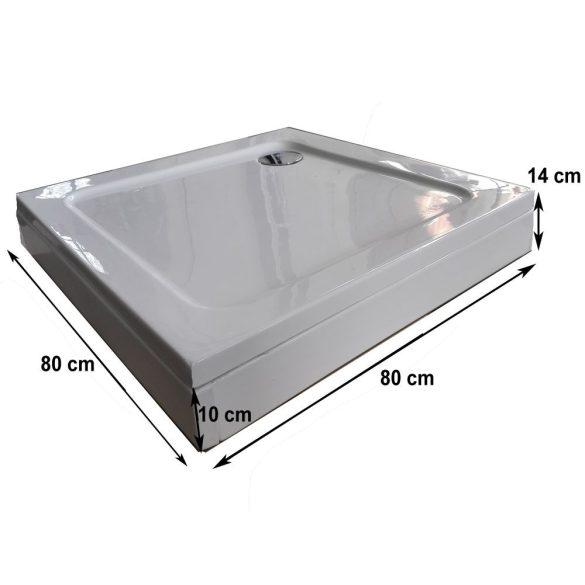BORA szögletes zuhanytálca levehető előlappal