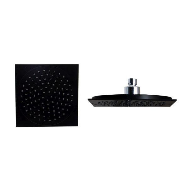 Esőztető fejzuhany BTS002 zuhanyszetthez, szögletes, fekete