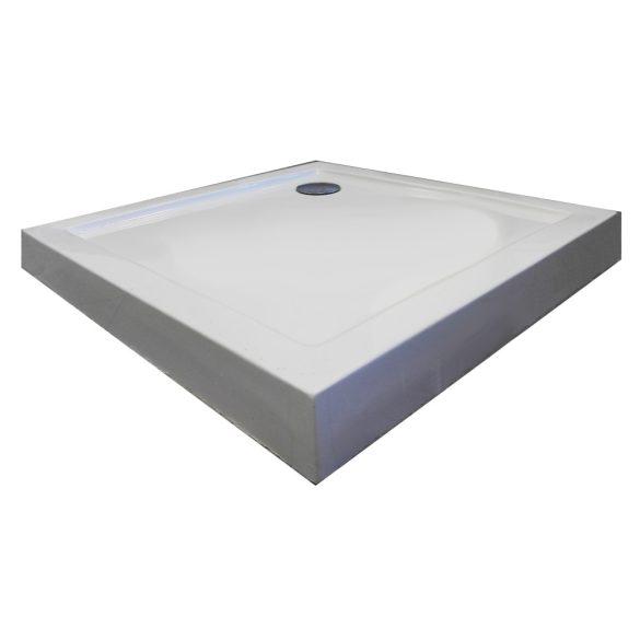 BORA 90 szögletes zuhanytálca fix előlappal