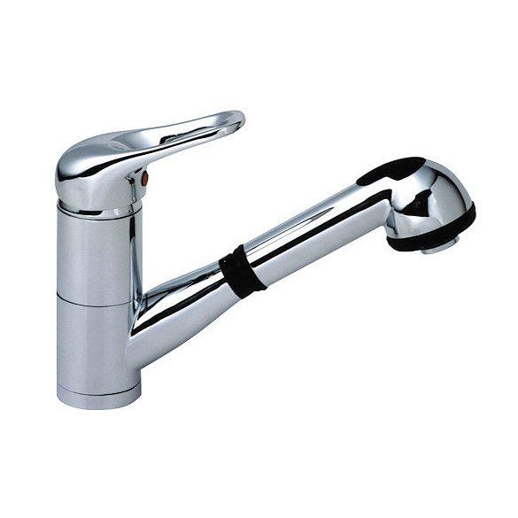SANOREKORD mosogató csaptelep kihúzható zuhanyfejjel