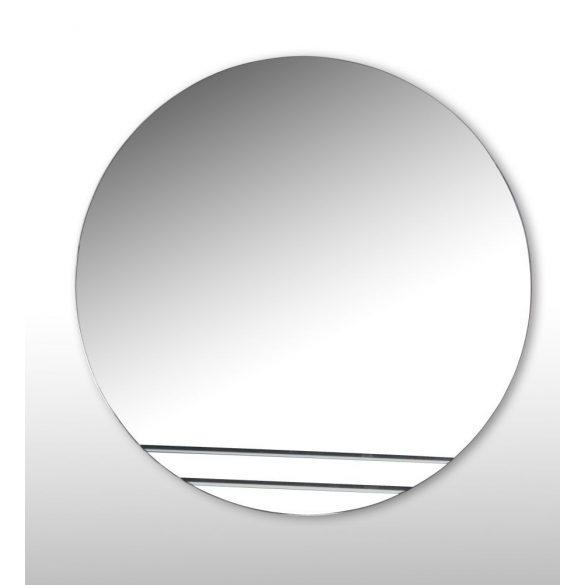 Tükör, kerek, csiszolt mintával, világítás nélkül