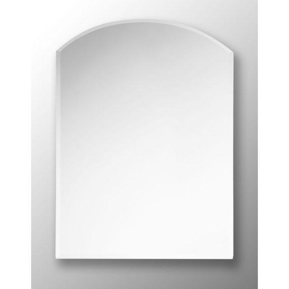 Tükör, íves, fazettázott, világítás nélkül