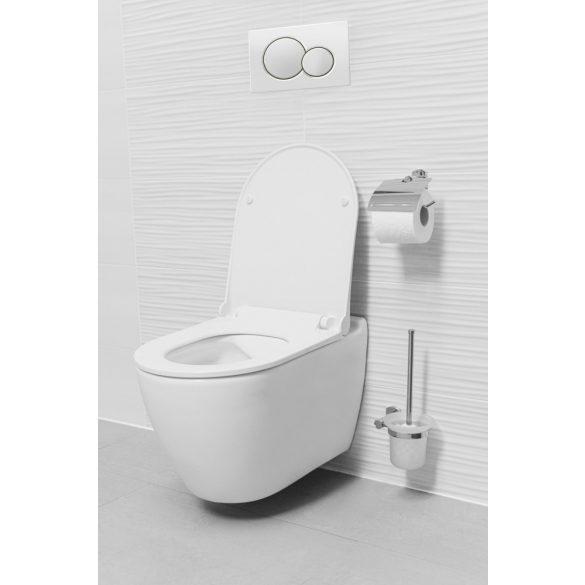 """UNO perem nélküli fali WC slim """"soft close"""" ülőkével"""