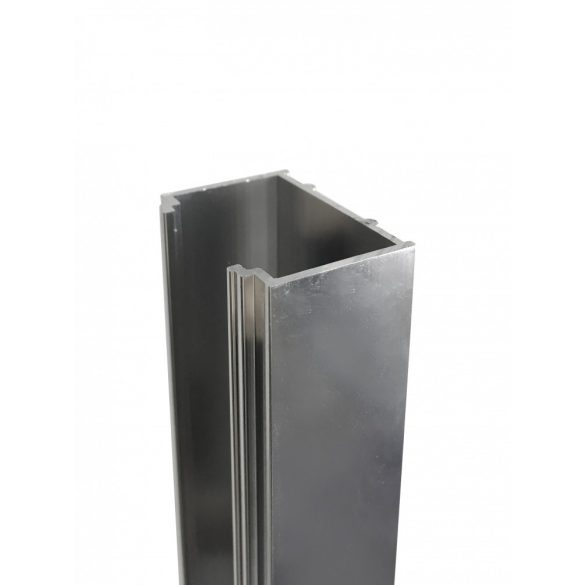 Toldóprofil, króm, 2 cm