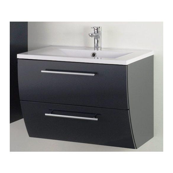 SWEET 70 függesztett mosdóhely, antracit, kerámiamosdóval