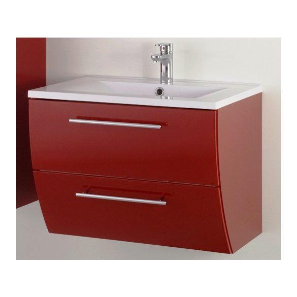 SWEET 70 függesztett mosdóhely, bordó, kerámiamosdóval