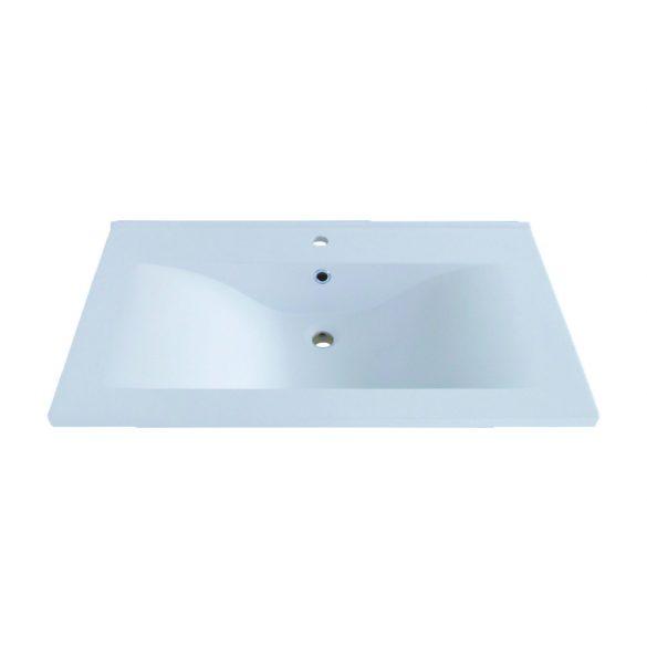 SWEET 70 függesztett mosdóhely, fehér, kerámiamosdóval