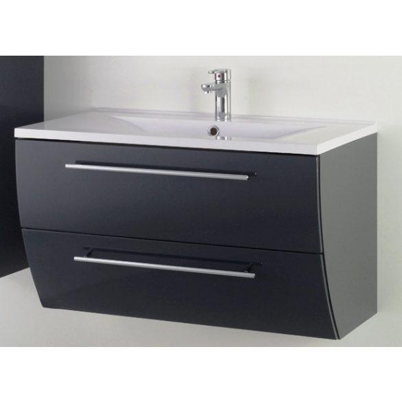 SWEET 90 függesztett mosdóhely, antracit, kerámiamosdóval