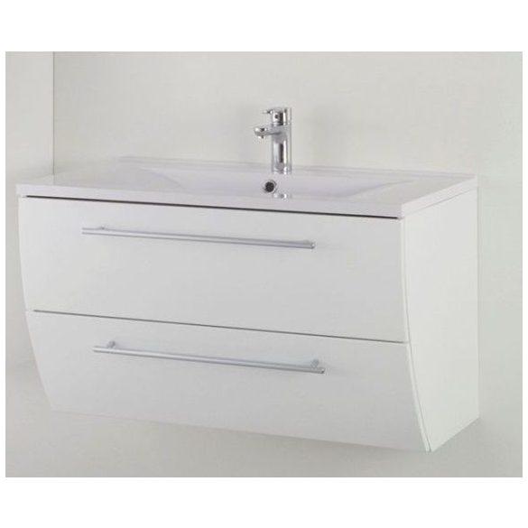 SWEET 90 függesztett mosdóhely, fehér, kerámiamosdóval