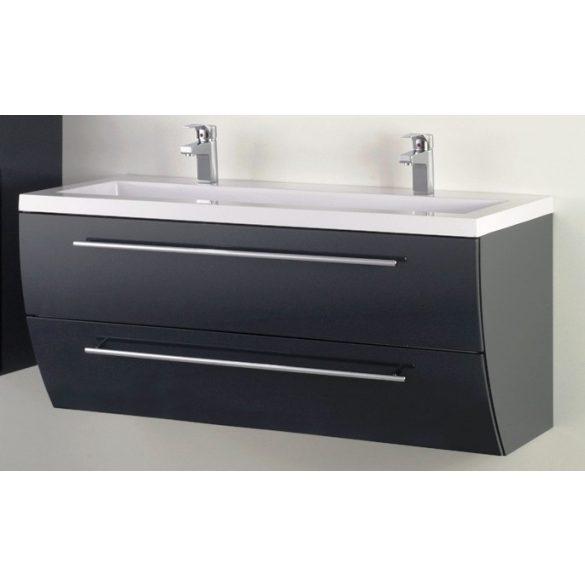 SWEET 120 függesztett mosdóhely, antracit, kerámiamosdóval