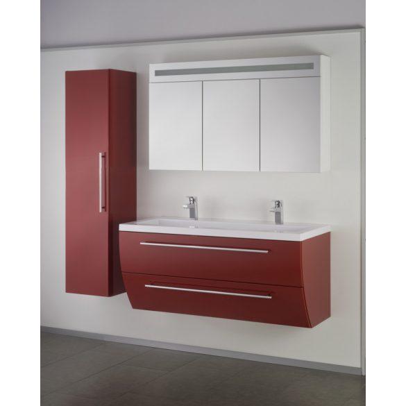 SWEET 120 függesztett mosdóhely, bordó, kerámiamosdóval