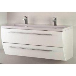 SWEET 120 függesztett mosdóhely, fehér, kerámiamosdóval
